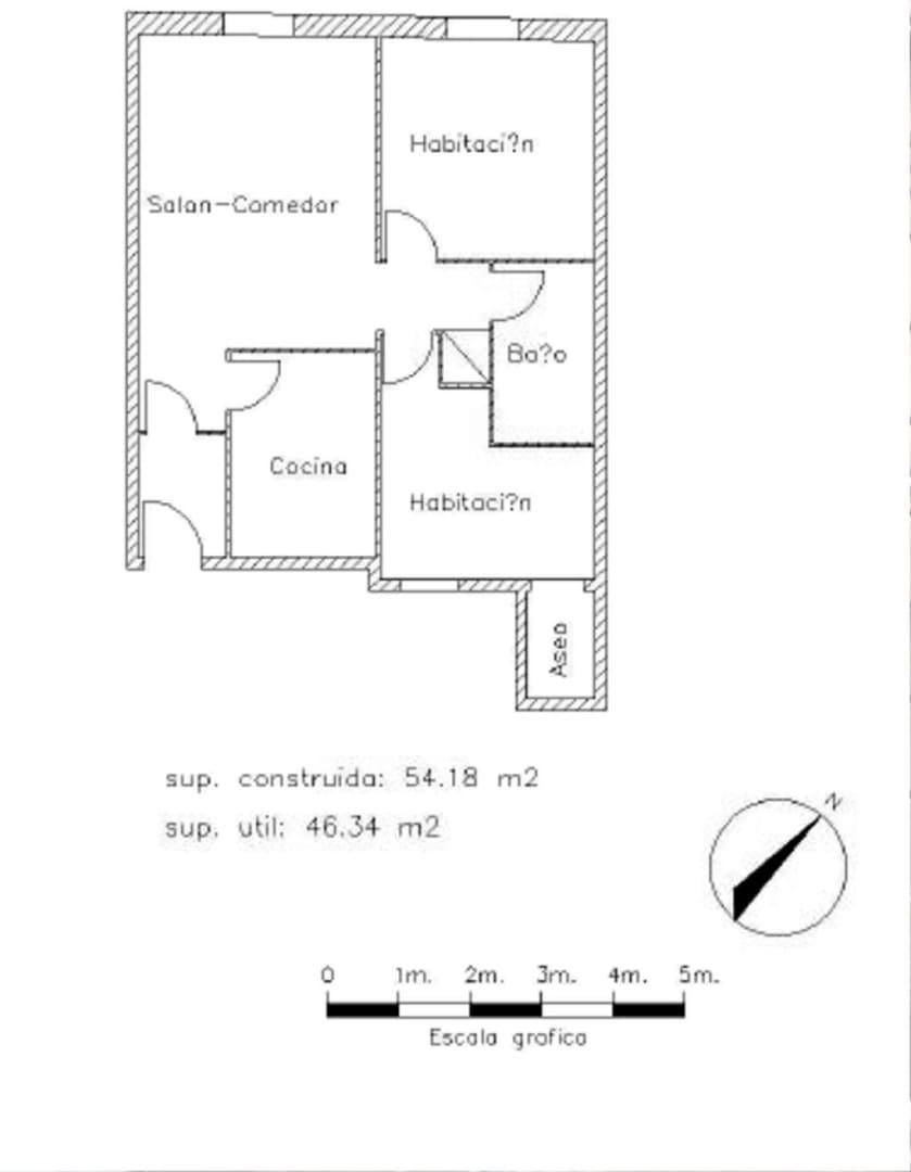 Piso en venta en Piso en Barcelona, Barcelona, 112.800 €, 2 habitaciones, 1 baño, 55 m2