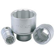"00492 1.1/8"" 3/4"" Square Drive Elora Bi-Hexagon Socket"