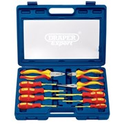 09914 DRAPER Expert 10 Piece Slimline VDE Approved Fully Insulated Screwdriver a