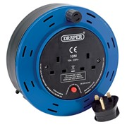26338 DRAPER 10M 230V Twin Extension Cable Reel
