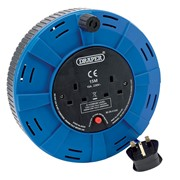 26339 DRAPER 15M 230V Twin Extension Cable Reel
