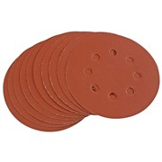 44344 DRAPER Ten 125mm 400 Grit Hook and Loop Sanding Discs