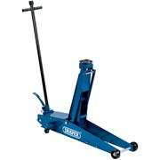 48349 DRAPER 2 Tonne Long Chassis High Lift Hydraulic Trolley Jack with 'Quick L
