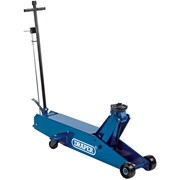 48356 DRAPER 10 Tonne Long Chassis Hydraulic Trolley Jack with 'Quick Lift' Faci