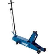 48357 DRAPER 5 Tonne Long Chassis Hydraulic Trolley Jack with 'Quick Lift' Facil