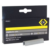 495021 CK Tools Cable staples 7.5mm wide x 11.1mm deep Box Of 1000