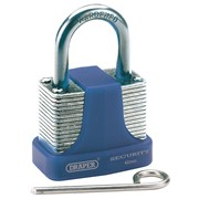 64157 DRAPER 42mm Reset-able 3 Number Combination Laminated Steel Padlock with H