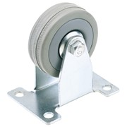 65472 DRAPER 50mm Dia. Fixed Plate Fixing Rubber Castor - S.W.L 50Kg