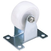 65496 DRAPER 50mm Dia. Fixed Plate Fixing Nylon Wheel - S.W.L. 75Kg