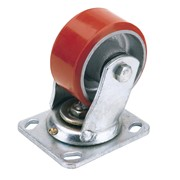65526 DRAPER 125mm Dia. Swivel Plate Fixing Heavy Duty Polyurethane Wheel - S.W