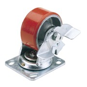 65527 DRAPER 125mm Dia. Swivel Plate Fixing Heavy Duty Polyurethane Wheel with B