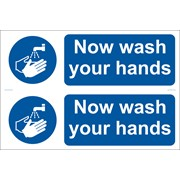 72162 DRAPER 2 x 'Wash Your Hands' Mandatory Sign