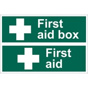 72542 DRAPER 'First Aid Box' Safety Sign