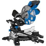83677 DRAPER 210mm 1500W 230V Sliding Compound Mitre Saw with Laser Cutting Guid