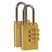 K11020D2 Kasp 110 Series Brass Combination Padlock 20mm Twin pack