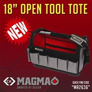 MA2636 CK Tools Magma 18inch Open Tool Tote | CK Magma | Stanley Fat Max Tote