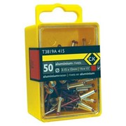 T3819A 412 CK Tools Pop Rivets Aluminium 3.15x9mm Box Of 50