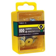 "T3824 12 CK Tools Washers 1/8"" Box Of 100"