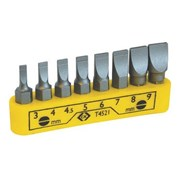 T4521 CK Tools Bit Clip Slotted Set Of 8