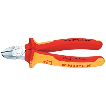 18451 Knipex 180mm Diagonal Side Cutter