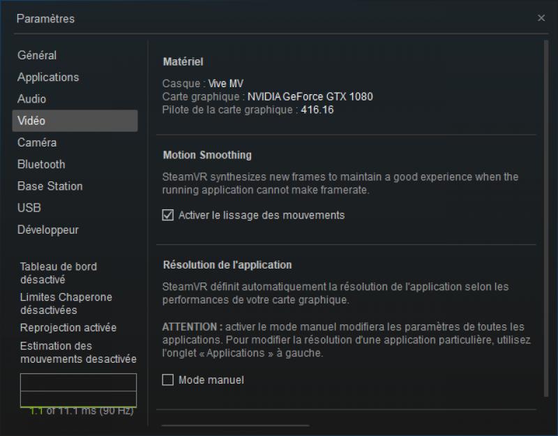 Vos jeux à 90 Hz constant ! SteamVR Motion Smoothing est arrivé ! - 12