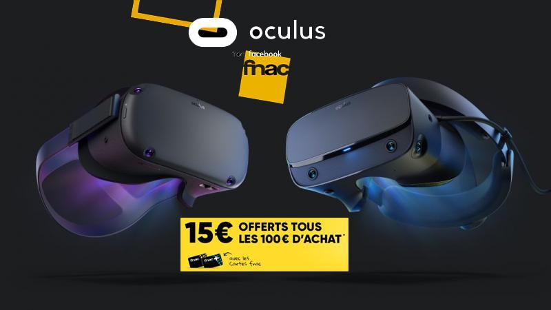 Bon Plan : 60€ à 70€ offerts pour l'achat d'un Oculus Quest ou d'un Rift S à la FNAC - 2