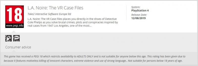 """LA Noire """"The VR case files"""" se dirige vers le PSVR - 4"""