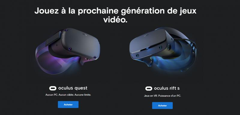 Bons plans FNAC : Oculus Quest et Oculus Rift S à -50€ - 2