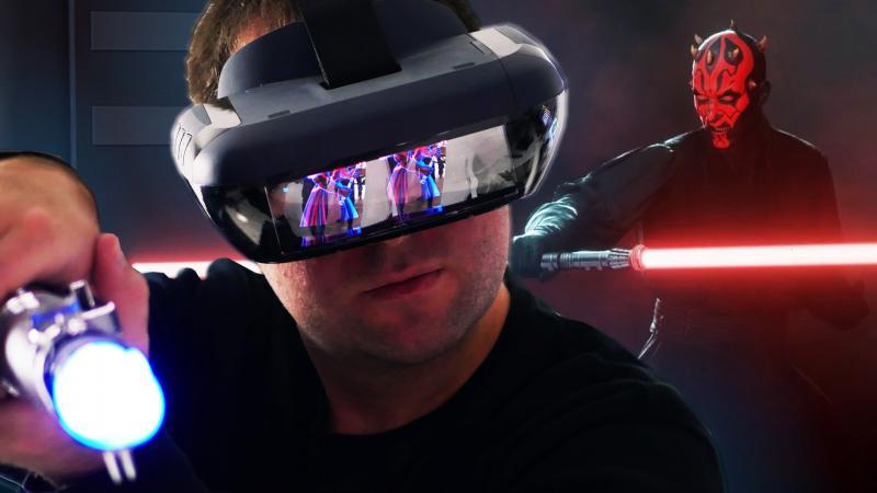 Test-vidéo de Star Wars en réalité augmentée avec le Lenovo Mirage / Jedi Challenges  (#TekNiK 011) - 2