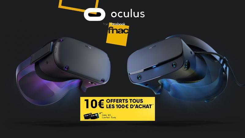 Bon plan : 10€ offerts tous les 100€ d'achat (adhérents) à la FNAC avec Vive Cosmos, Cosmos Elite, Oculus Quest et Rift S concernés ! - 2