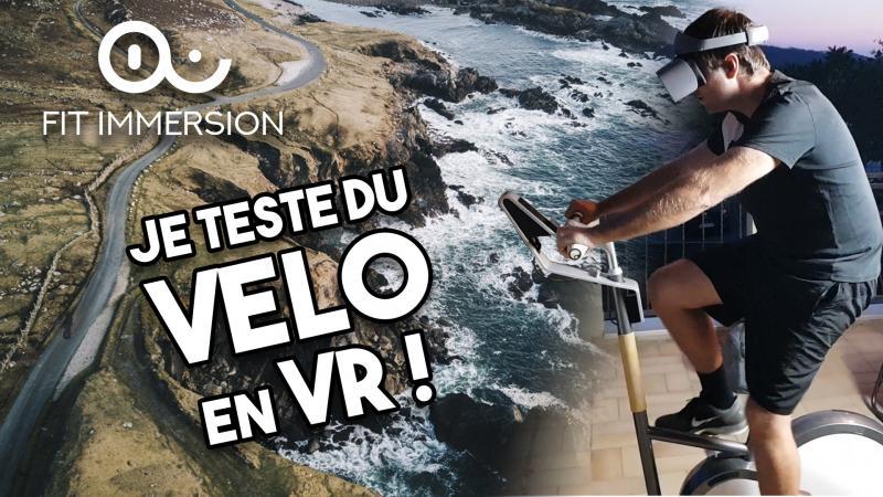 On fait du VÉLO en VR avec Fit Immersion - 2