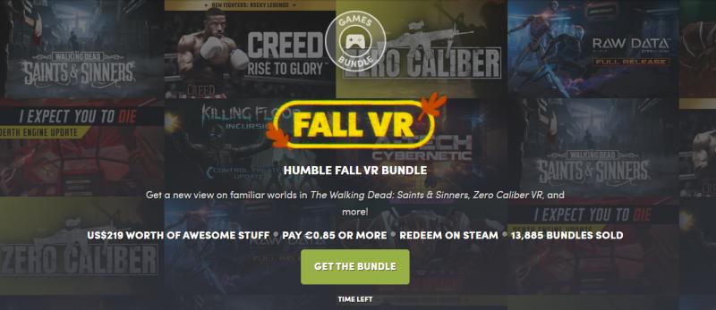 Bon plan : un pack Humble Bundle Fall VR avec Creed et Walking Dead: Saints & Sinners. 190€ de jeux pour moins de 15€ ! - 2