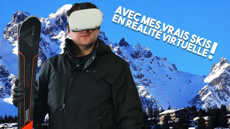 Vidéo : J'ai craqué, je suis quand même allé faire du ski... en réalité virtuelle ! (Test POWDER VR) - 2
