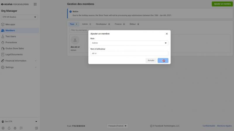Tutorial : Mode Développeur (avec & sans Facebook) et SideQuest (version 2021 OCULUS QUEST 1 & 2) - 17