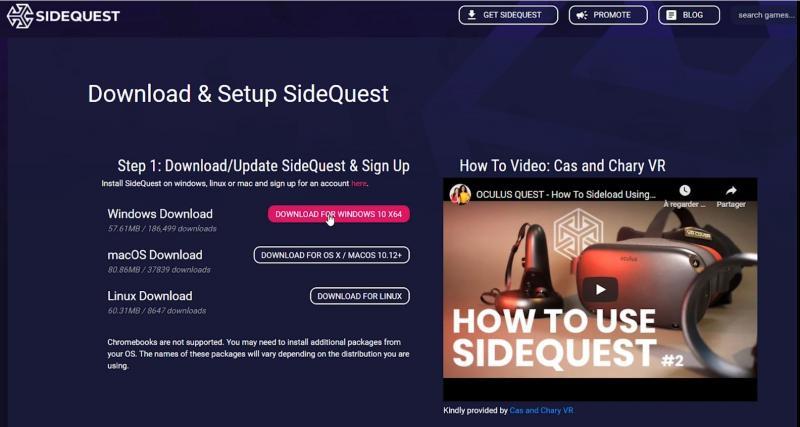 Tutorial : Mode Développeur (avec & sans Facebook) et SideQuest (version 2021 OCULUS QUEST 1 & 2) - 28