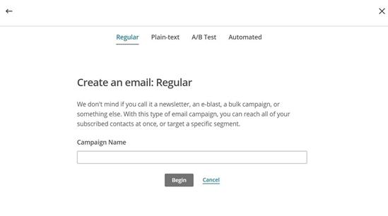 Créer une campagne dans Mailchimp