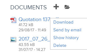 where can i see the different versions of a quotation an invoice in