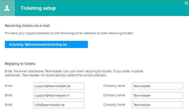 Configuration du module Tickets dans Teamleader