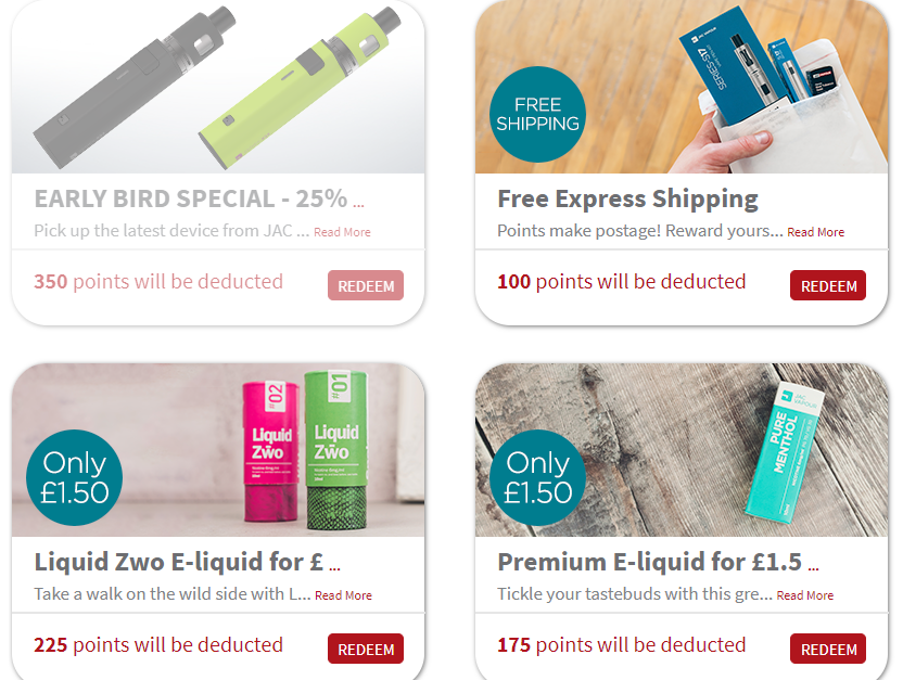 Examples of some of the current offers