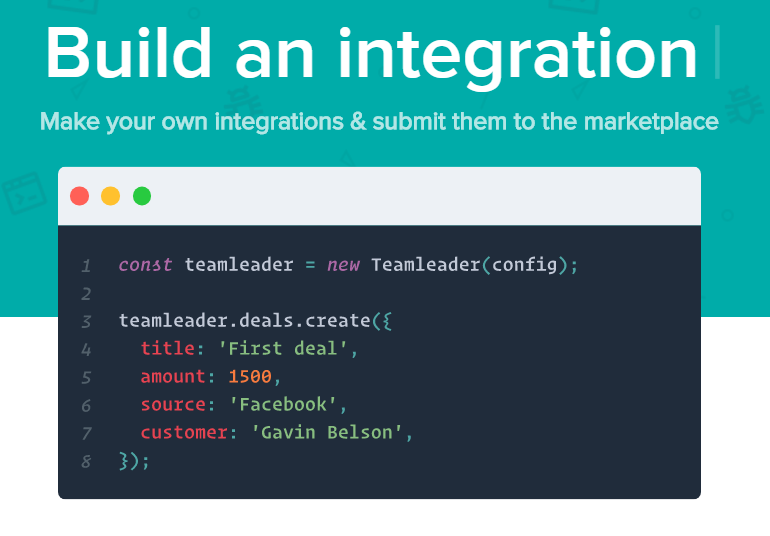 Can I build a custom integration with Teamleader? : Teamleader