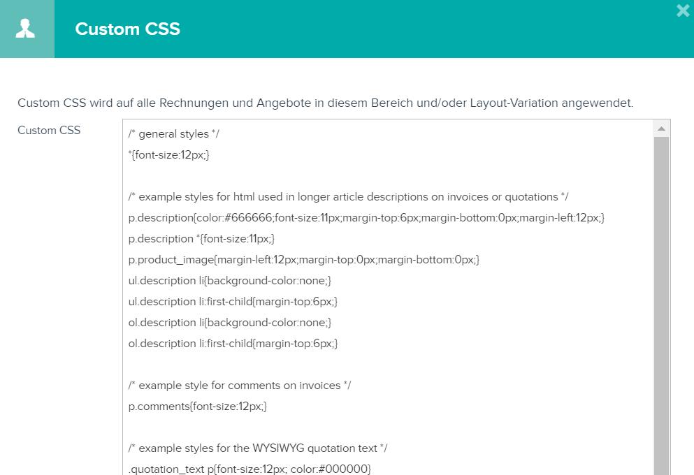 Wie kann ich das CSS meiner Vorlagen anpassen? : Teamleader