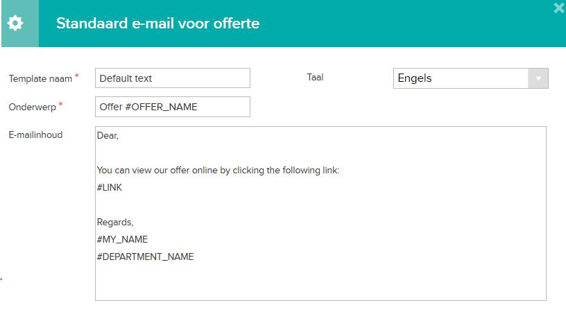 E-mailtemplates: offertes