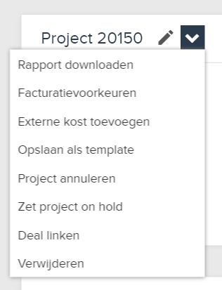 project template opslaan