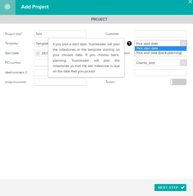 milestones of a project example
