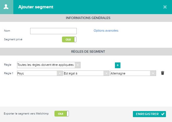 Créer un segment dans Teamleader pour Mailchimp