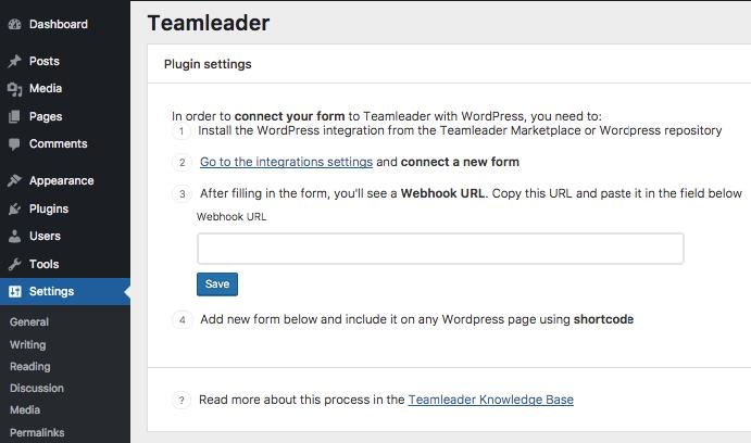 Teamleader plugin WordPress