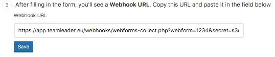 Webhook URL Wordpress