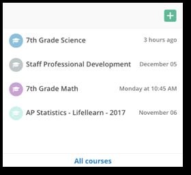 screenshot active courses