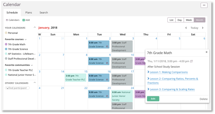 screenshot calendar
