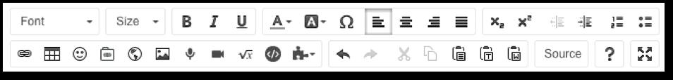 screenshot rich text editor